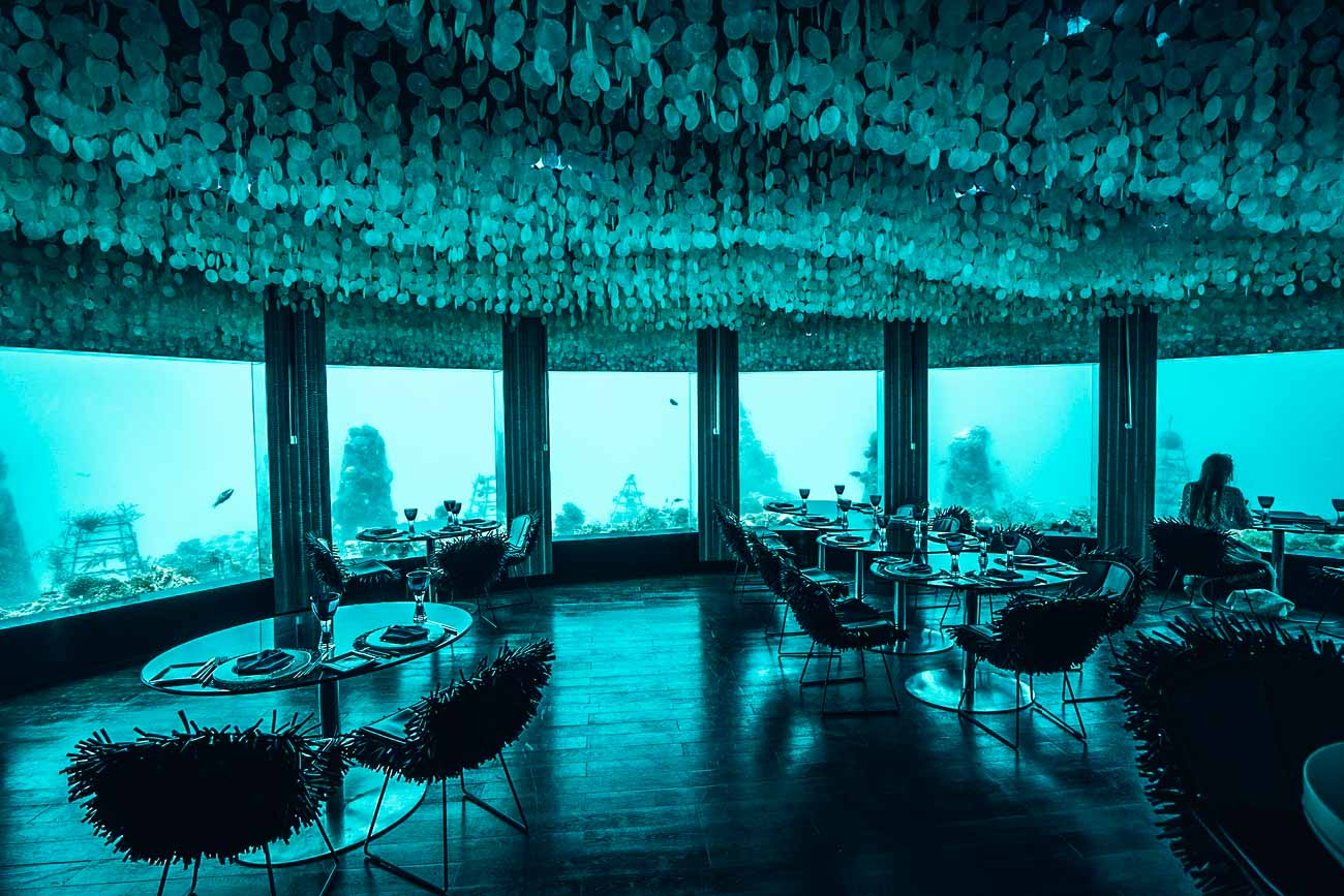 underwater restaurant niyama maldives