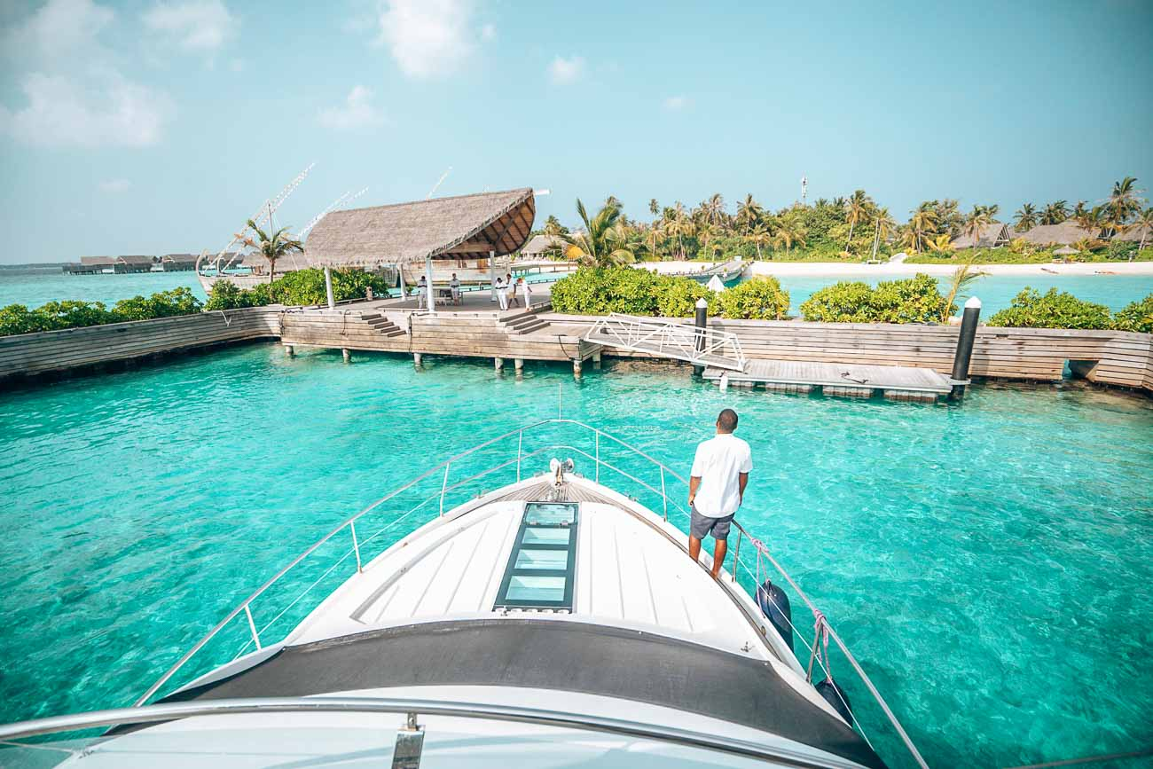arrival at milaidhoo maldives