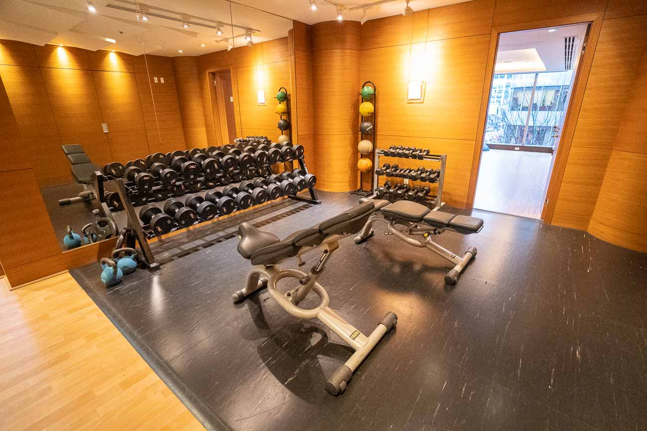 fitness center at shangri-la vancouver
