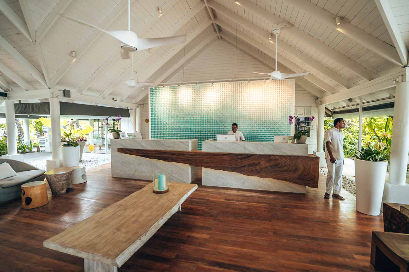 lobby at lux south ari atoll