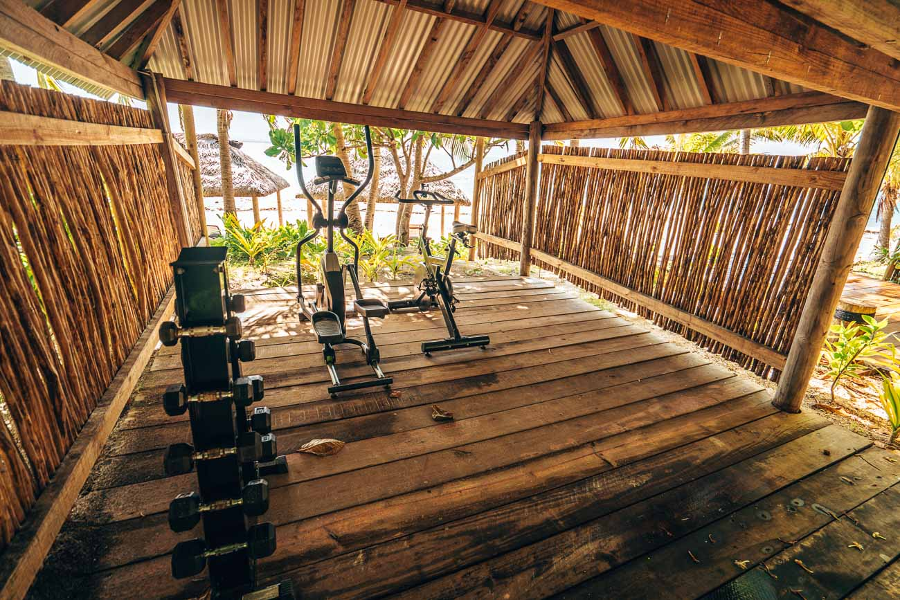fitness at serenity island fiji