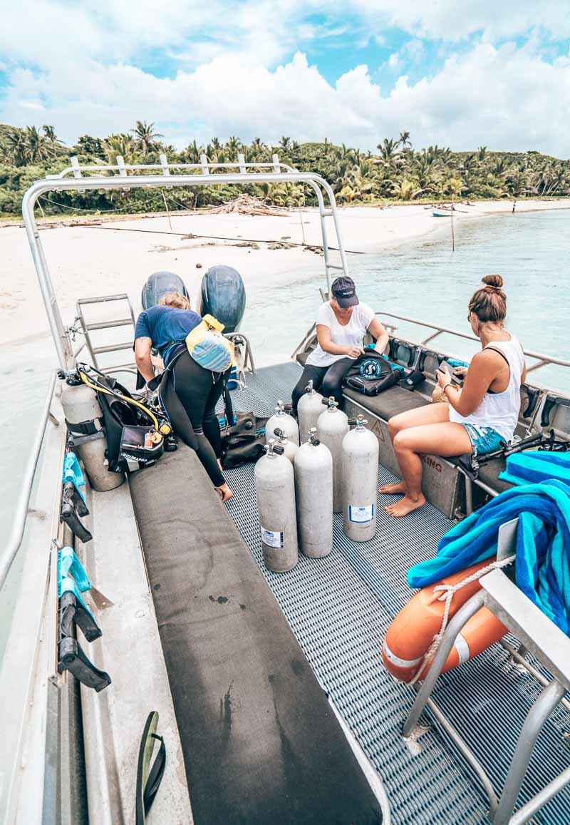 scuba diving Yasawa Island Resort