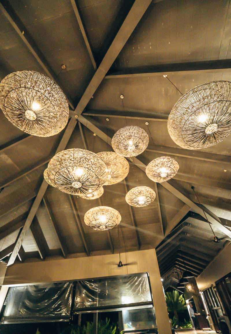 lobby light Yasawa Island Resort