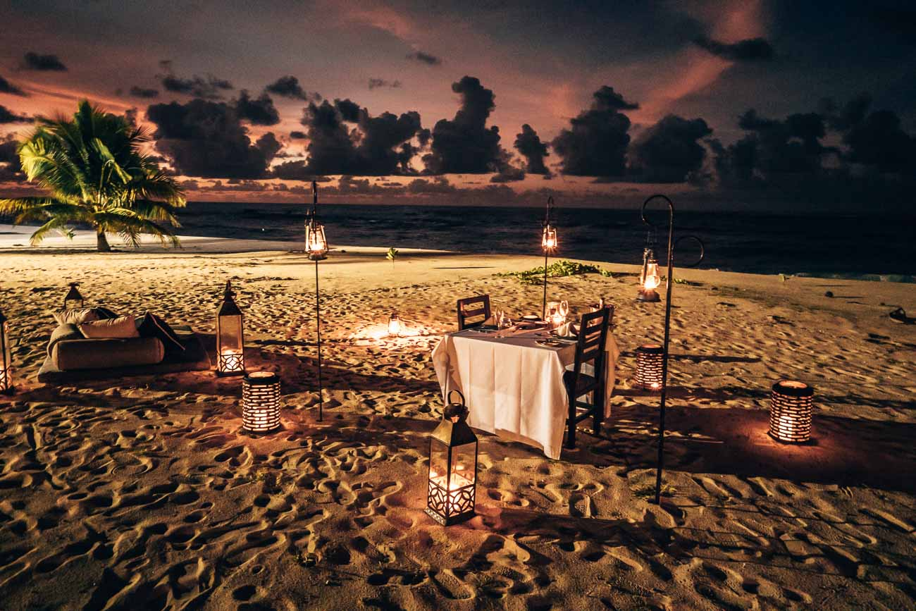 private dining Yasawa Island Resort