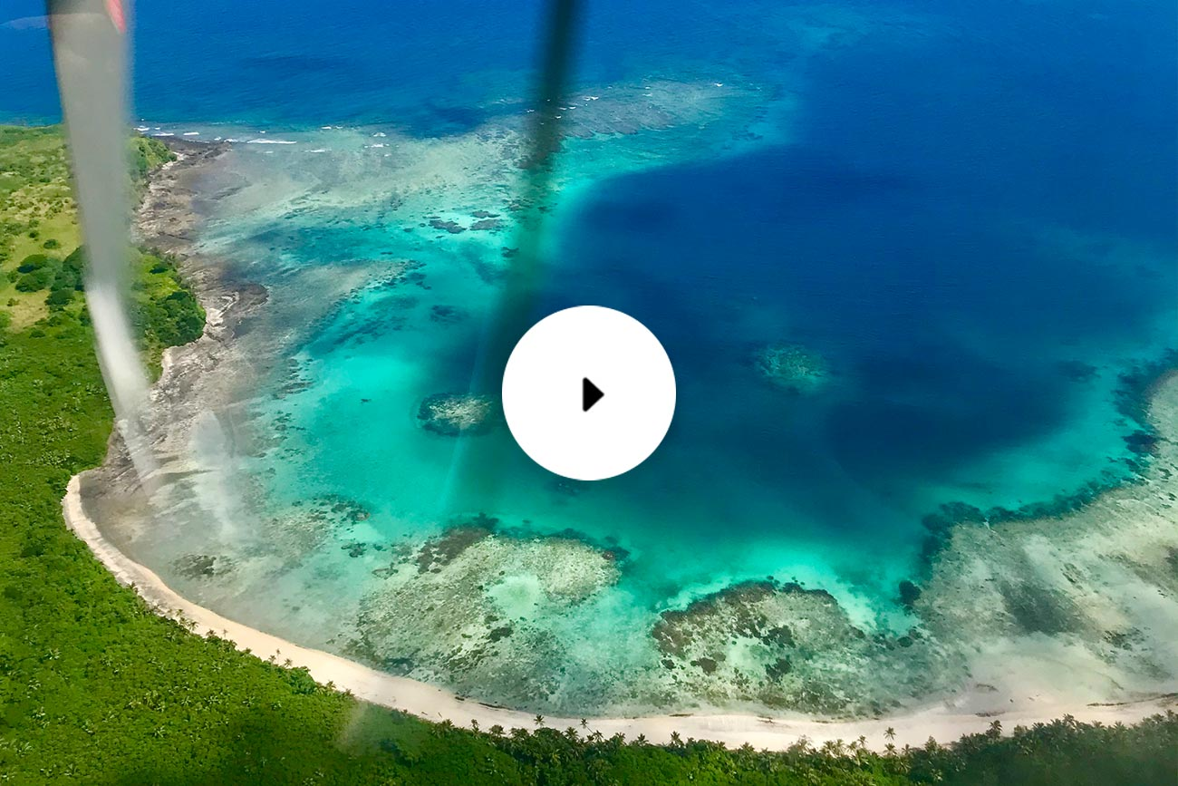 fiji from the air in yasawas