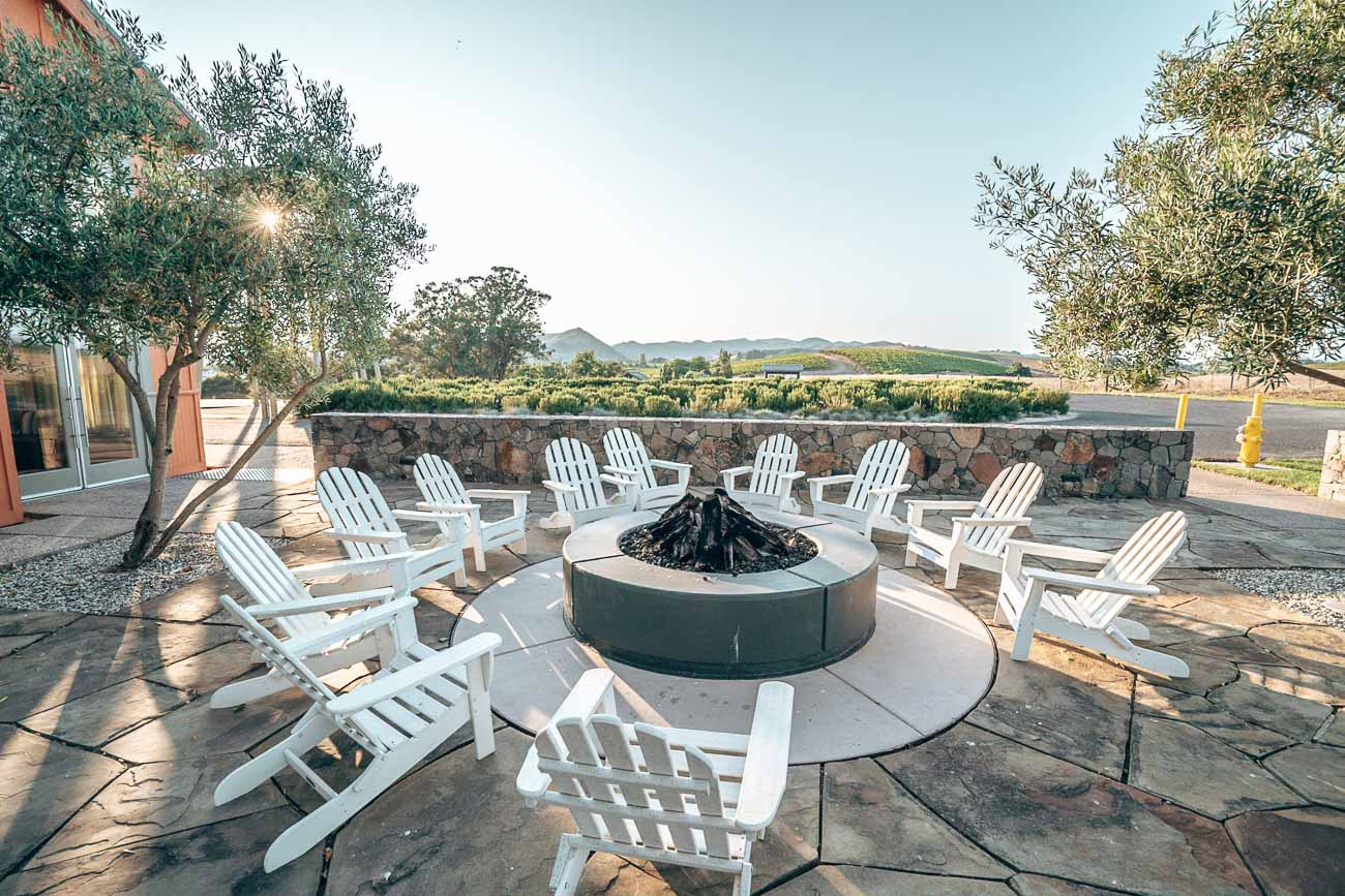 Firepit at carneros resort