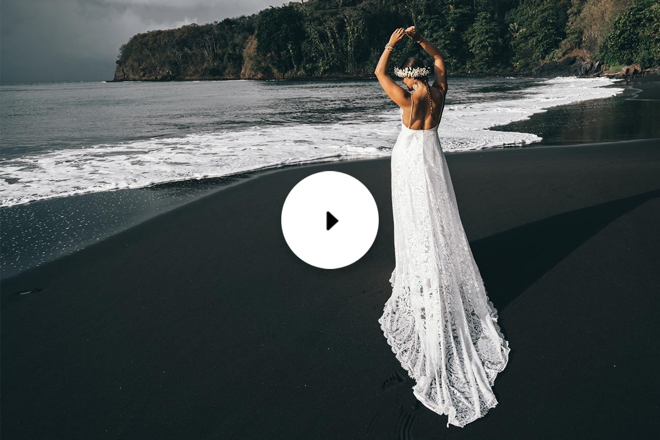 tahiti pearl video bride on beach