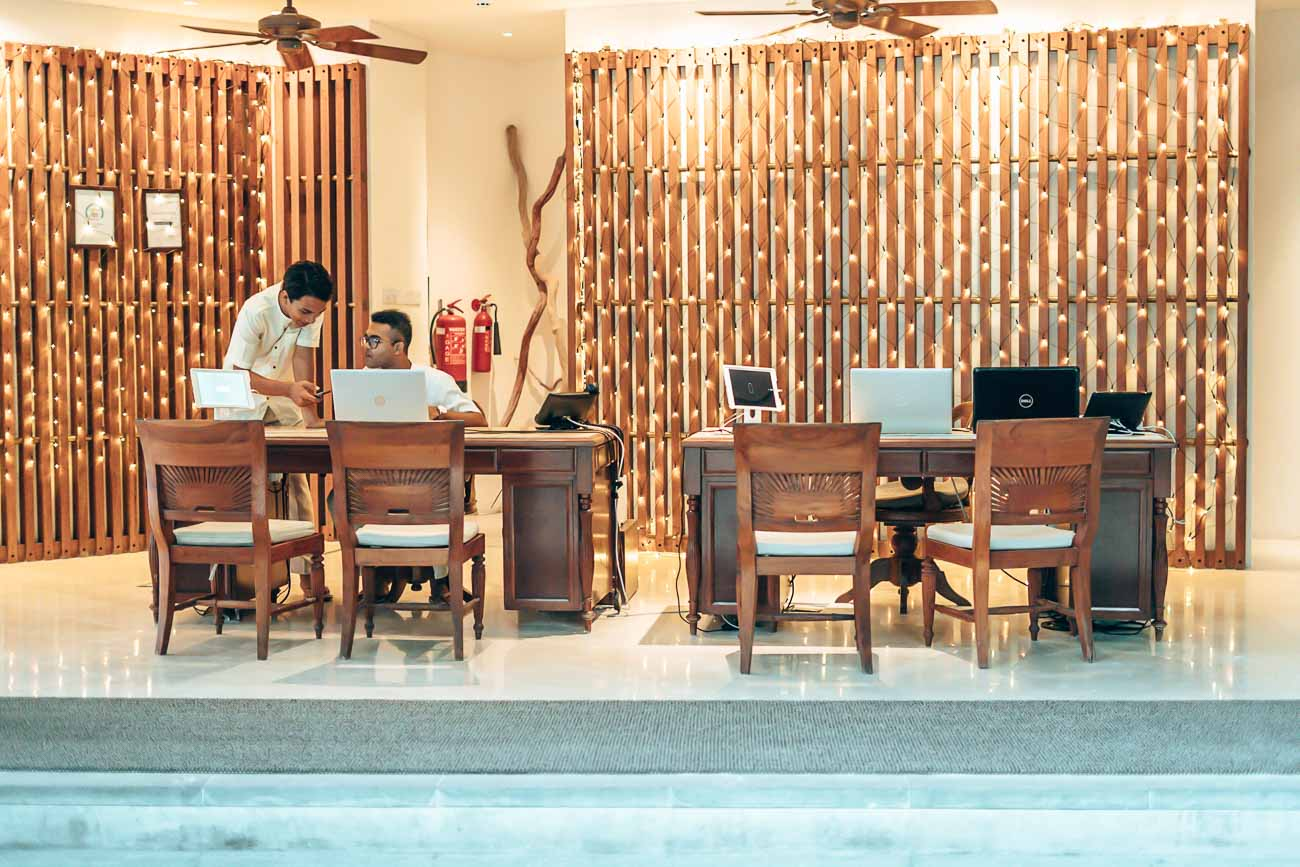 lobby at The Residence Maldives
