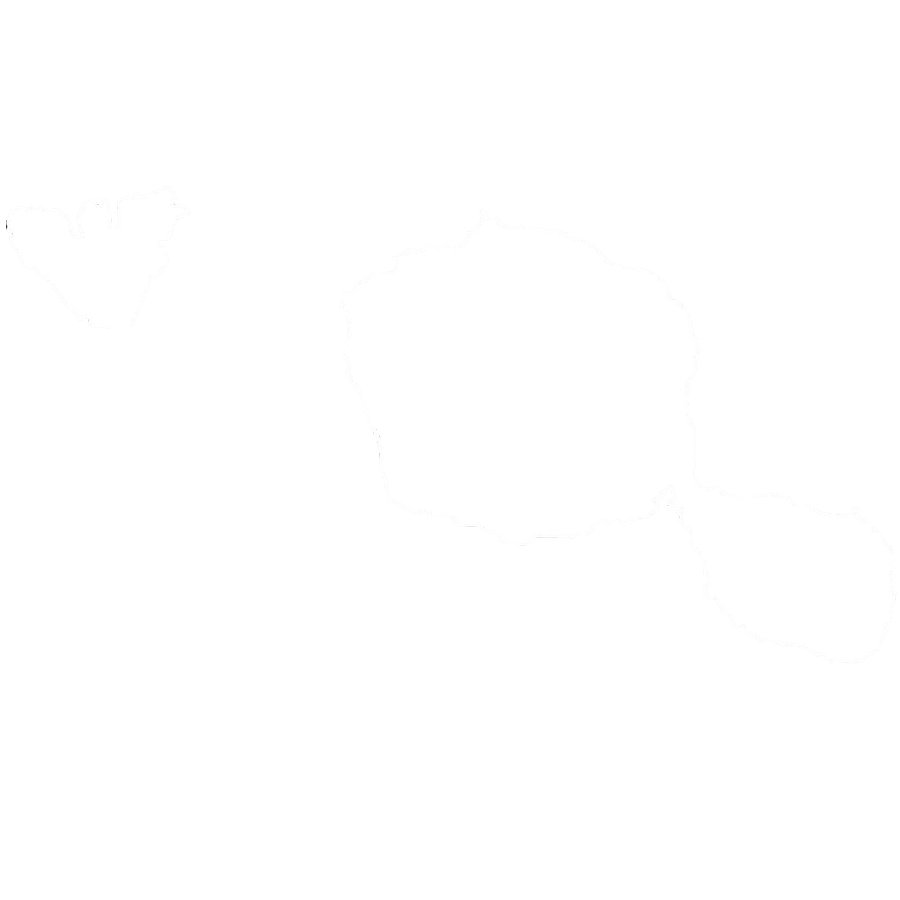 map of tahiti white silhouette