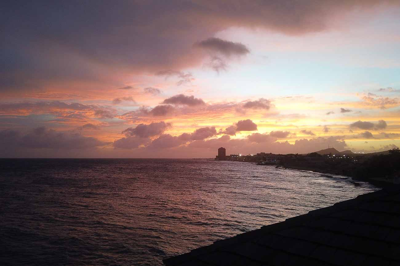 sunsets at avila beach curacao