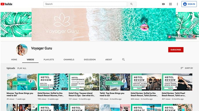 voyager guru travel videos on youtube