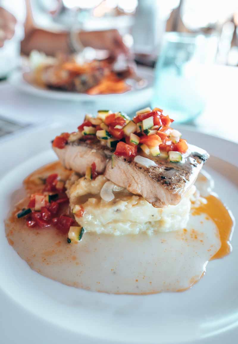 mahi mahi with toppings