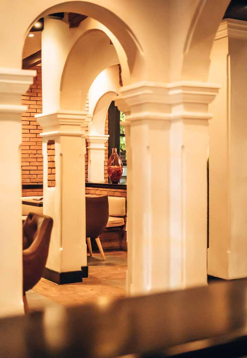 columns in hotel lobby sanctuary cap cana