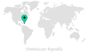 Map of where Voyager Guru is in the world, currently in the Dominican Republic