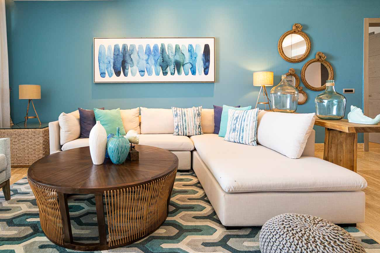 living room beach chic