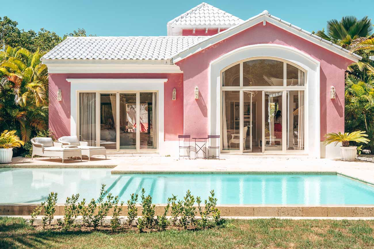 adorable pink villa with pool