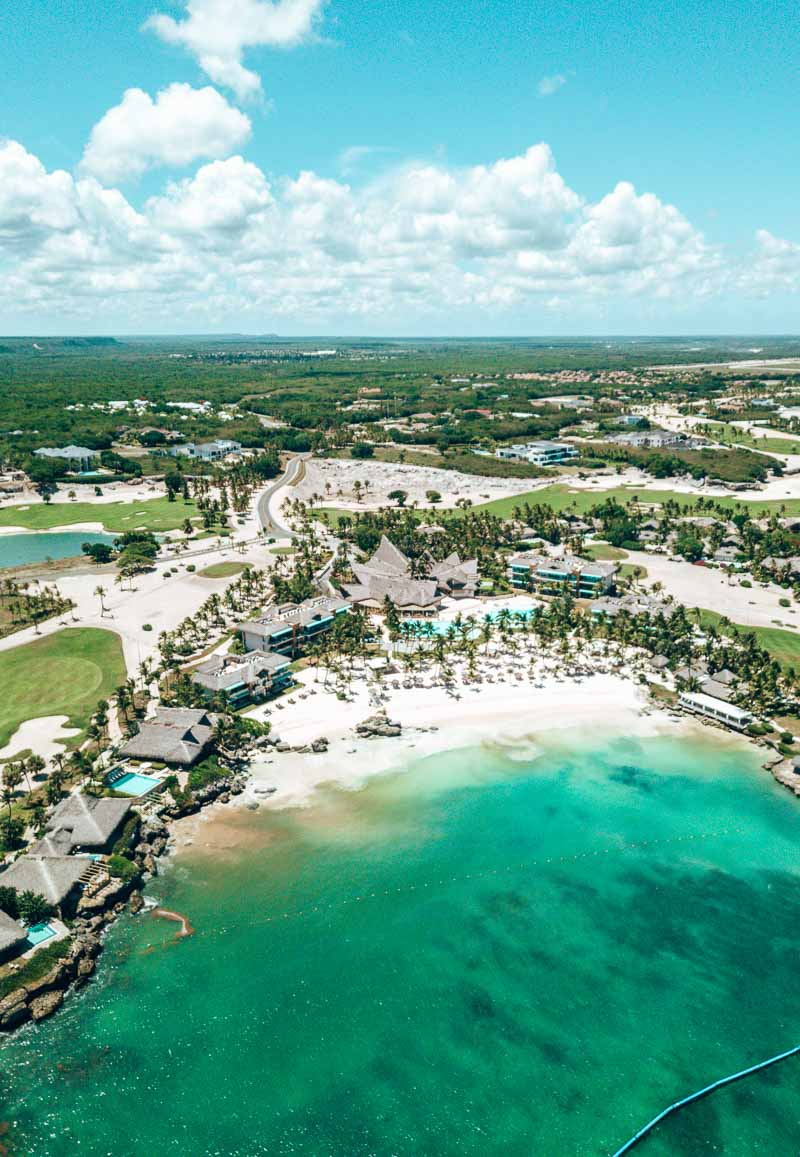 Eden Roc Cap Cana from air