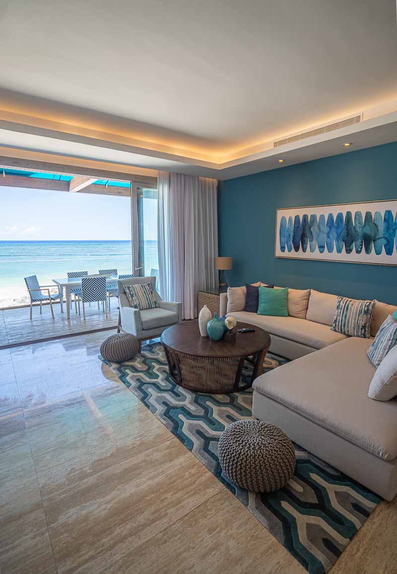 living room beachfront