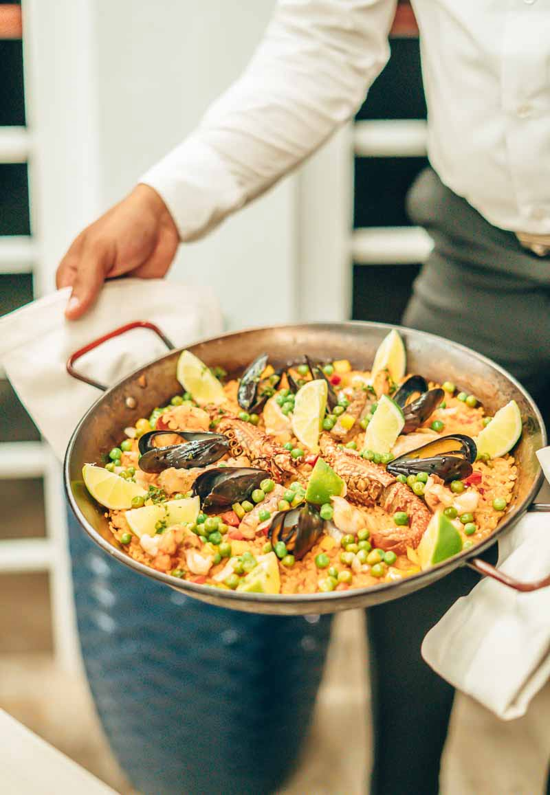 beautiful seafood paella