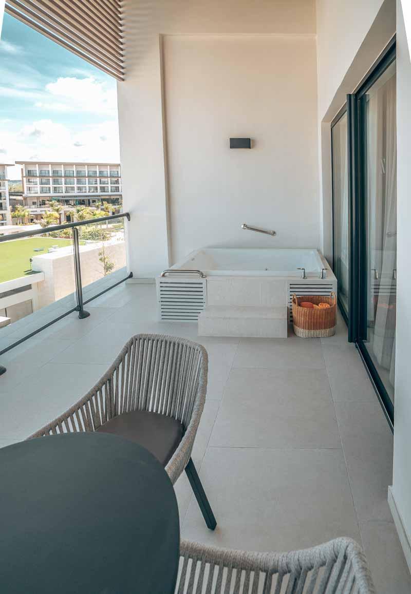balcony in hotel suite