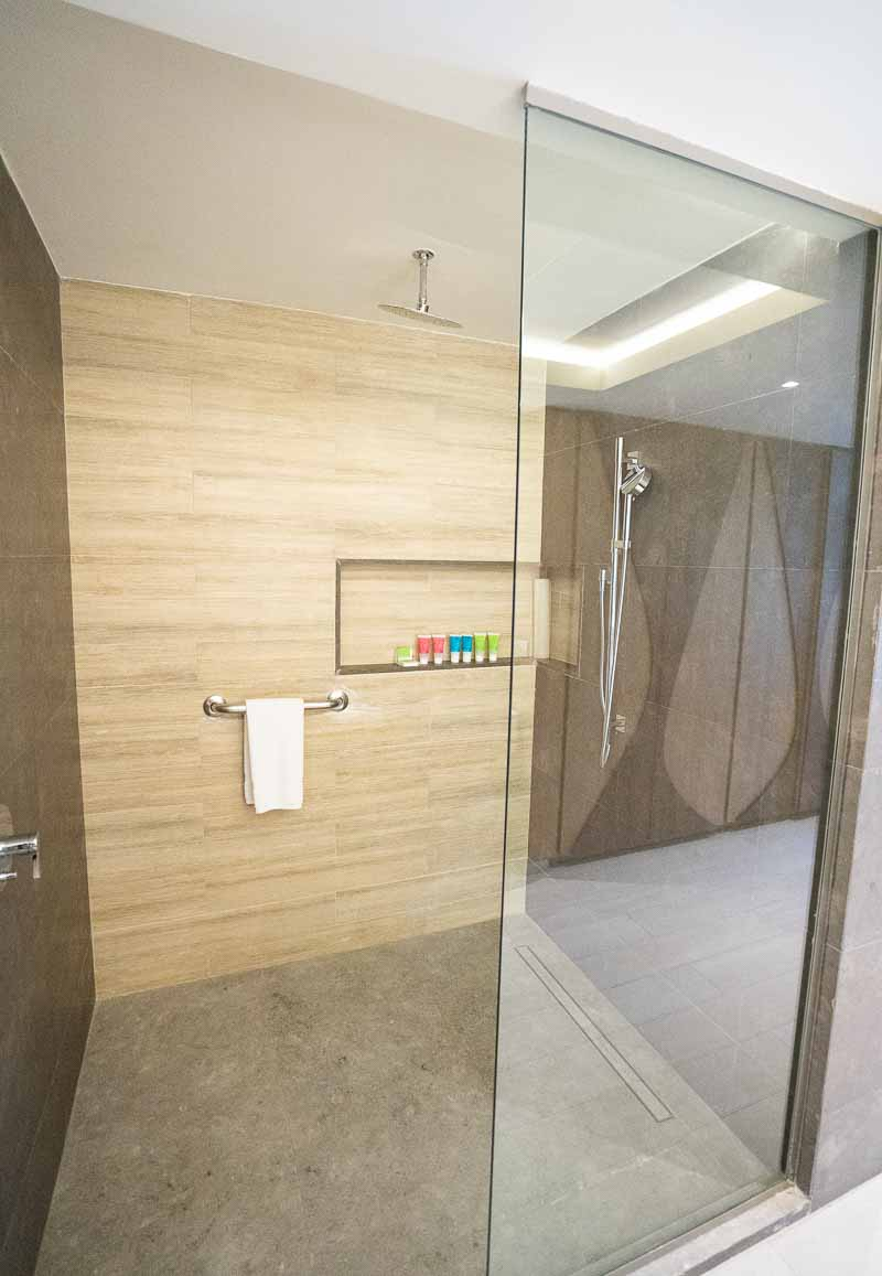 shower in hotel suite