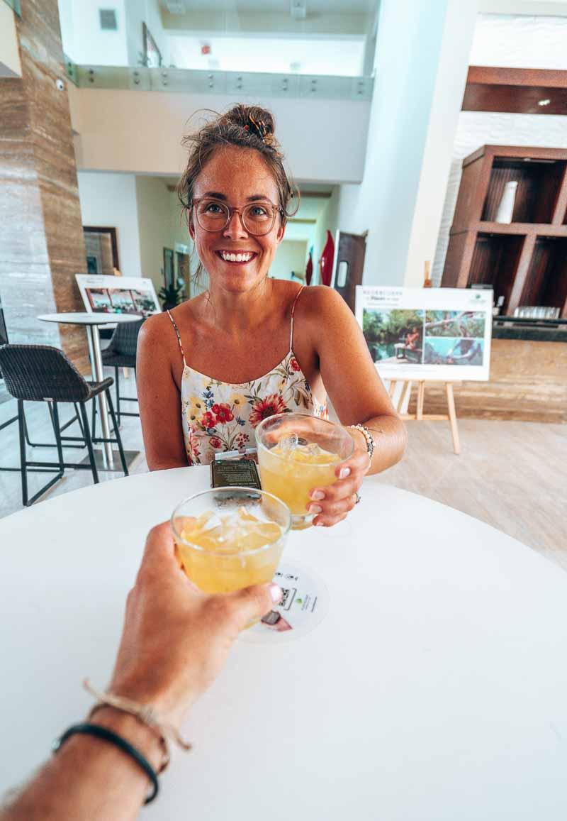 Westin Punta Cana lobby drink