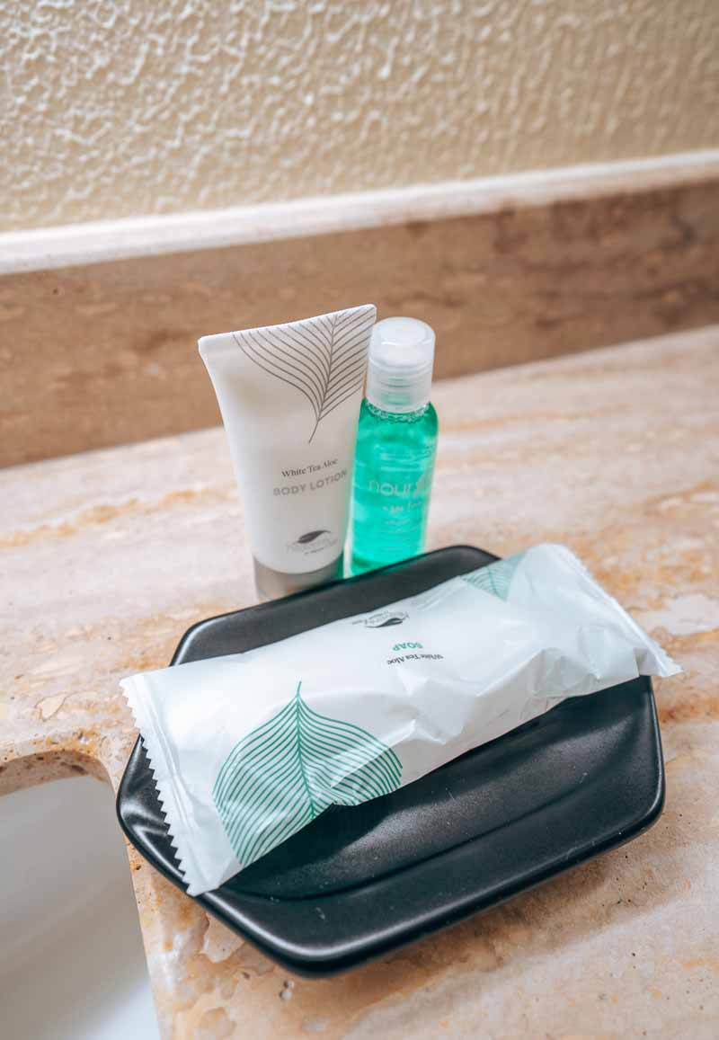 Westin Punta Cana premium king room toiletries